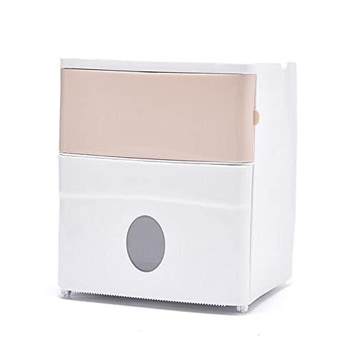 Portarrollos De Papel Higiénico De ParedTitular Caja De Tejido De Ba?o Dispensador Impermeable Montado En La Pared Rollo De Papel De Papel Higiénico (Size:21cm X 20cm X 13.5cm; Color:Pink)