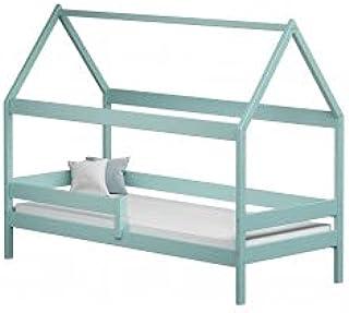 Children's Beds Home - Lit simple en forme de maison - Teddy - Lit simple - Teddy - 140x80 - Turquoise, aucune, matelas en...