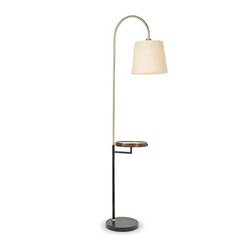 Lámpara de pie de carga inalámbrica para mesa de café, sala de estar, dormitorio, mesita de noche, luz americana, lámpara de mesa vertical de lujo M03-29 (color: nogal negro)