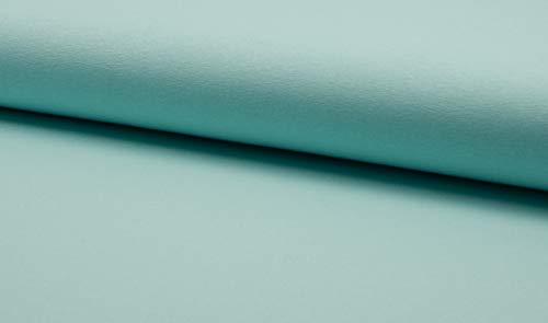 Elastik Viskose Jersey uni 0,5 m - TOP Quallität - 300g/lfm- Öko-Tex - Meterware (Mint 120)