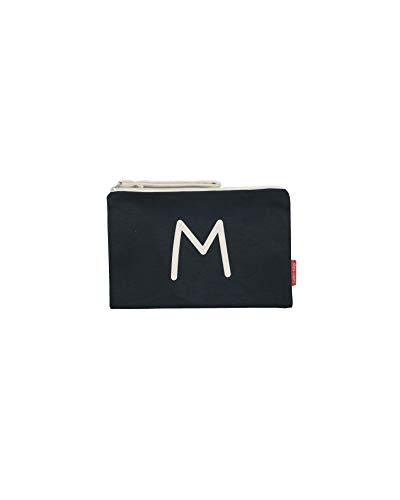 Hello-Bags Bolso Neceser/Cartera de Mano. Algodón 100%. Negro. con Cremallera y Forro Interior. 23 * 15,5 cm. Incluye sobre Kraft de Regalo