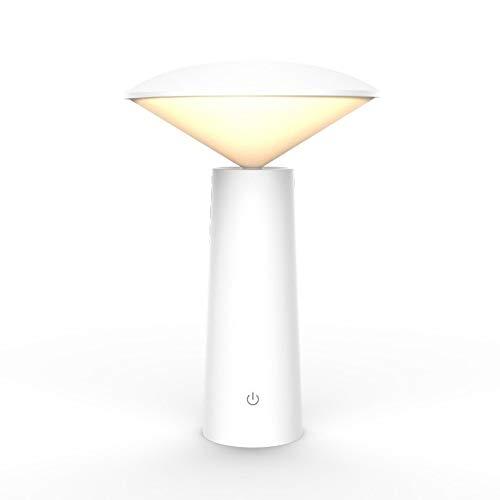 Kfhfhsdgsatd Lampara Mesa Inflamación, Toque Ornamental para Abrir luz, USB, Simplicidad Original, lámpara de Escritorio de protección Ocular, Aprendizaje LED (Color : White)