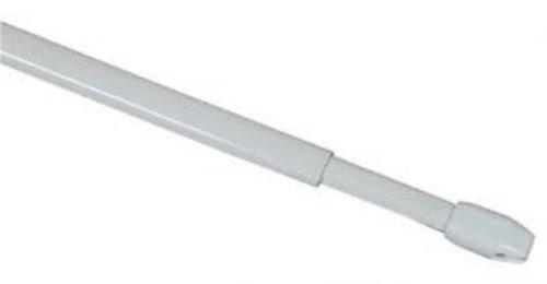 Vitragestangen / Scheibenstange ausziehbar Weiss 10er Pack 60-100 cm incl. 20 Klebehaken Premium Qualität