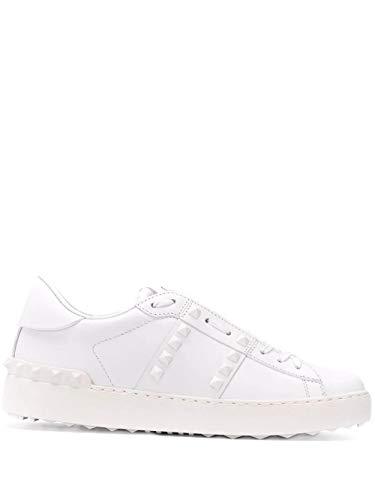 Moda Valentino Mujer TW2S0A01YEK0BO Blanco Cuero Zapatillas | Primavera-Verano 20