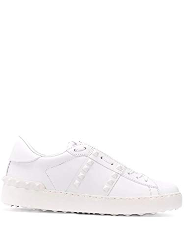 Valentino Luxury Fashion Damen TW2S0A01YEK0BO Weiss Leder Sneakers | Frühling Sommer 20
