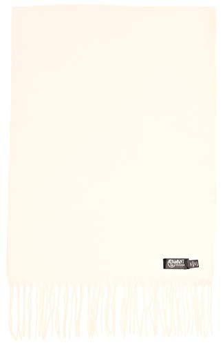 ADAMANT 100% Reines Kaschmir, Damen Schal - kuschelweich - 180cm lang - uni, einfarbig - (Wollweiß)