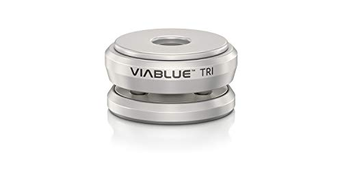 VIABLUE TRI Spikes für Lautsprecher, Subwoofer und vibrierende Geräte * Silber * Modell 2019 * Set 4 Stück