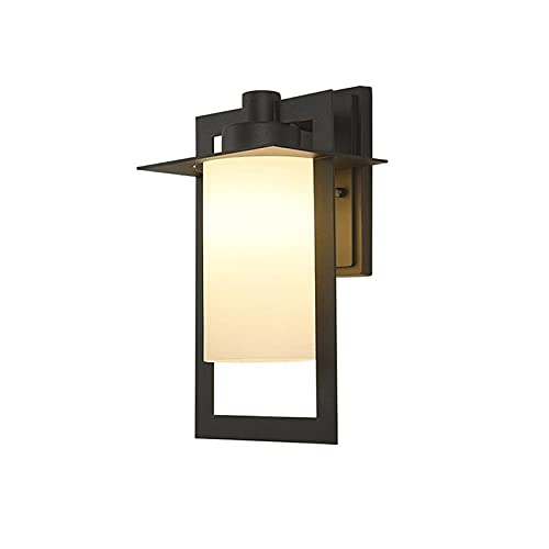 YXLMAONY Lámparas de pared para exteriores impermeables modernas, apliques de luz LED para pared, apliques de iluminación para pared exterior de metal, lámparas montadas en la pared, luz para porche y