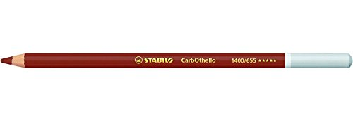Stabilo–Lote de 3lápices de color de carbón pastel CarbOthello rojo egipcio