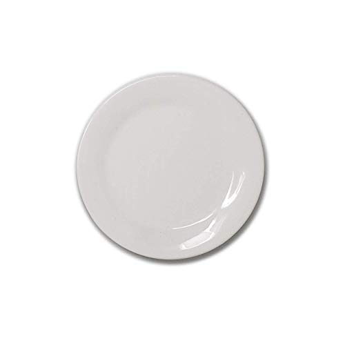 White Porcelain China Ceramic Saucer Bread Appetizer Kitchen Catering Restaurant Dinner 5 Inch Round Plate (12)