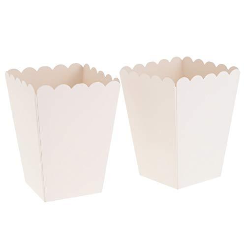joyMerit Caja De Palomitas De Maíz Blancas 12x Contenedor Fiesta De Cumpleaños