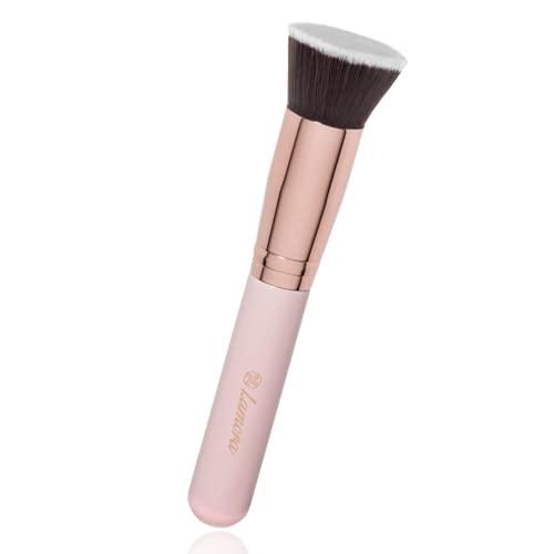 Flat Top Kabuki Foundation Brush - Premium Makeup Face Brush For Liquid, Cream, Powder - Blending, Buffing, Stippling Brush - Pro Quality Synthetic Dense Bristles