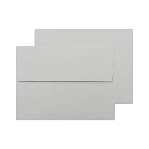 A7 Gray Invitation 5x7 Envelopes - Self Seal, Square Flap,Perfect for 5x7 Cards, Weddings, Birthday, invitations, Graduation, Baby Shower, 5.25 x 7.25 Inches, 100 Pack, (Gray)