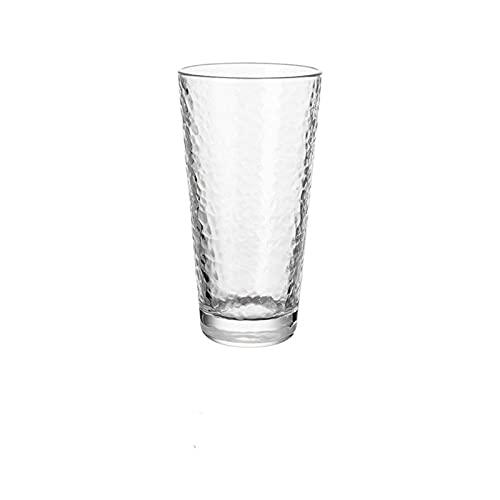 chenchen Taza de Vidrio de Agua Antideslizante para el Whisky para el café de la Leche de Oro enlay Whisky cóctel Copa de Vino Vidrio Transparente Vidrio Taza Taza (Color : Tall)