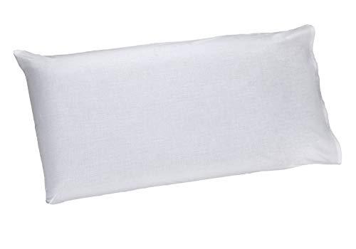 Sibiles - Almohada de Viscoelástica Núcleo Carbono Funda Blanca 100% Algodón ViscoBlanc (80 cm)
