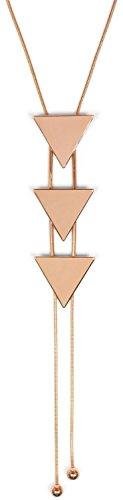 styleBREAKER Collar en Y con Colgantes de triángulos desplazables, Cadena de Serpiente, Cadena, bisutería, señora 05030050