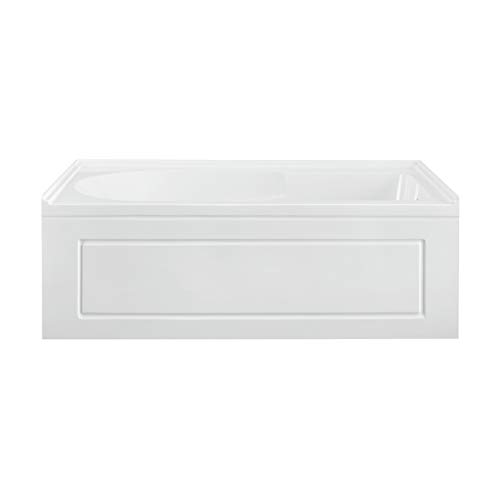 Swiss Madison Well Made Forever SM-AB560, Concorde 60 in. x 32 in. Acrylic Glossy White, Alcove, Integral, Right-Hand Drain, Apron Bathtub