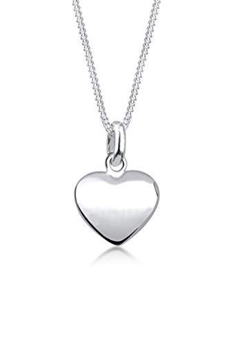 Elli Collares Colgante de filigrana de corazón para damas en plata esterlina 925