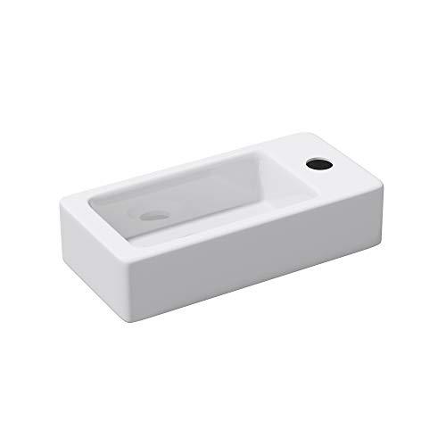 Mai&Mai: Hängewaschbecken aus Keramik in weiß mit Nano-Beschichtung Brüssel3053L