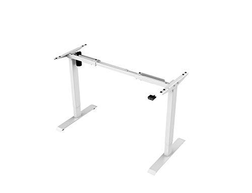 Better Home - elektrisch höhenverstellbarer Schreibtisch, Bürotisch Tischgestell stufenlos Höhe, belastbar bis 70 kg, mit Single Motor max Höhe: 121 cm