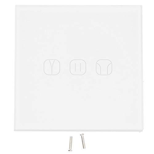 Interruptor de cortina inteligente, ABS de 3 canales, interruptor inteligente Wifi portátil de 10 A para PC, forma compacta para cortinas eléctricas, rodillos eléctricos