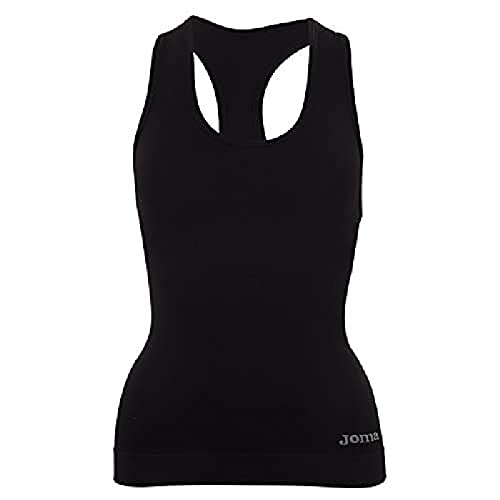 Joma Brama Classic - Camiseta térmica para Mujer, Color Negro, Talla M-L