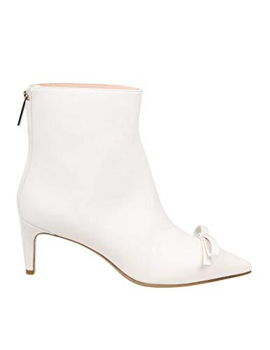 Valentino Luxury Fashion | Red Damen TQ2S0C59TPB031 Weiss Leder Stiefeletten | Frühling Sommer 20