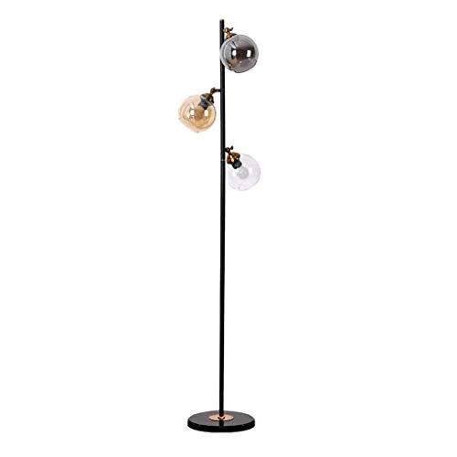 Lámpara de pie Moderna, Poste de luz de Metal con Pantalla de Vidrio Colgante, lámparas de Poste Alto de pie para Sala de Estar, Dormitorio, Oficina, 3 Colores E27