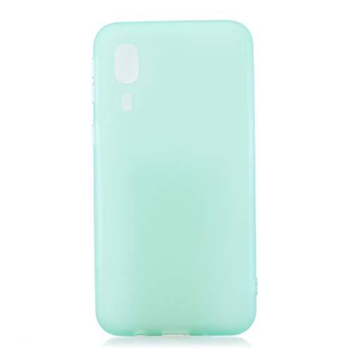 BSA Funda para Samsung Galaxy A2 Core SM-A260F verde menta semitransparente TPU flexible suave ultra fina antiarañazos HD Case funda compatible Smartphone