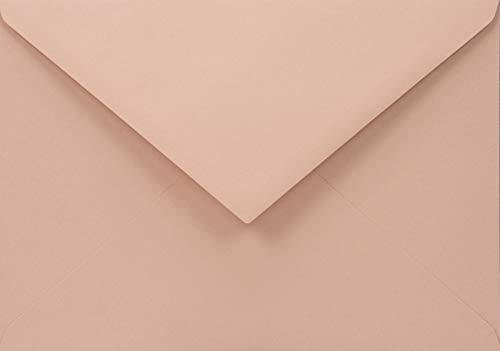 25 Blass-Rosa C6 Recycling-Umschläge 114x162 mm 110g Woodstock Cipria Spitzklappe ohne Fenster bunte Umschläge recycelt Briefumschläge Natur C6 Briefkuverts farbig Naturpapier Umschläge