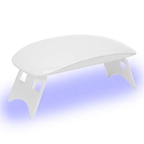 Lámpara de uñas UV, secador de uñas de 6 W, máquina de curado de gel UV profesional, luz de curado portátil para manicura y gel sensor
