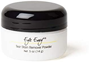 Eye Envy Tear Stain Remover Powder for Dogs & Cats |100% Natural, Safe | Apply Around Eyes to Absorb & Repel Tears | Keeps Area Dry | Treats The Cause of Staining | Effective & Non-Irritating (.5 oz)