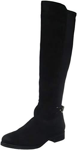 Tommy Hilfiger Damen TH Buckle HIGH Boot Stretch Hohe Stiefel, Schwarz (Black 990), 37 EU