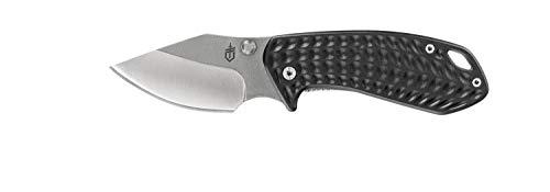 Gerber Couteau pliant de poche avec clip de poche, longueur de la lame : 6,3 cm, Kettlebell Folding Clip Knife, gris, 31-003682