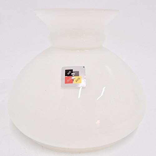Petroleumlampenschirm 180 234 197 mm Glas weiß Vestaschirm Ersatzglas Öllampe
