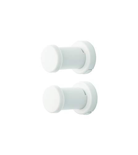 ライクイット(like-it) 壁掛け フック 壁に取り付けられるフック (2個組) ホワイト 幅4.5x奥6.5x高4.5cm On The Wall 日本製 OTW-03