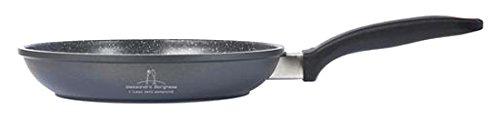 H&H Alessandro Padella Antiaderente Borghese Cm24 Induzione Pentole E Preparazione Cucina, Alluminio pressofuso, Nero, 24 cm