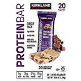 Kirkland Signature Protein Bars Chocolate Chip Cookie Dough, 20-count...