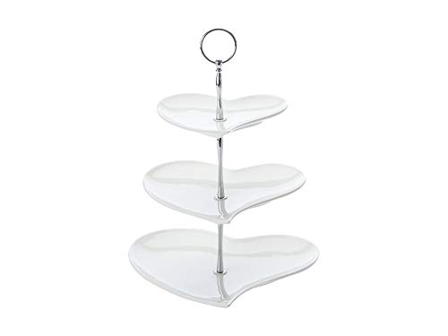 Maxwell & Williams JX57916 Amore Etagere, Servierständer, Servierplatte, 3-stöckig, in Geschenkbox, Porzellan / Metall