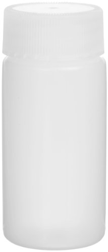 Wheaton 986704 HDPE 20mL Liquid Scintillation Vial, with Polyethylene Linerless Lined Screw Cap Attached (Case of 500)