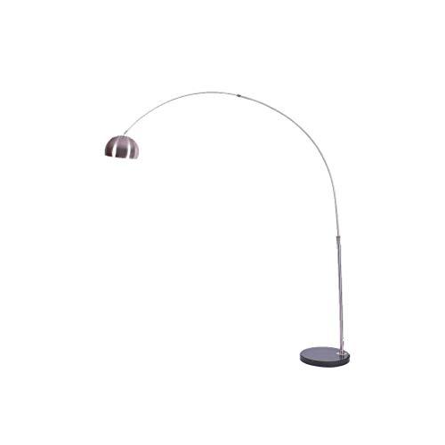 LY88 licht modern design stijl gepolijst chroom vorm staande lamp met een zilver chroom koepel schaduw 0702P grootte: L