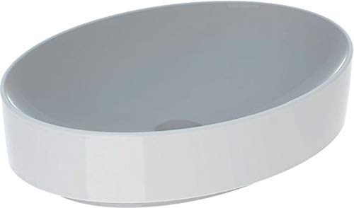 Geberit VariForm wastafel ovaal, 550x400mm, zonder kraangat, zonder overloop, Kleur: Weiss, met KeraTect - 500.771.00.2