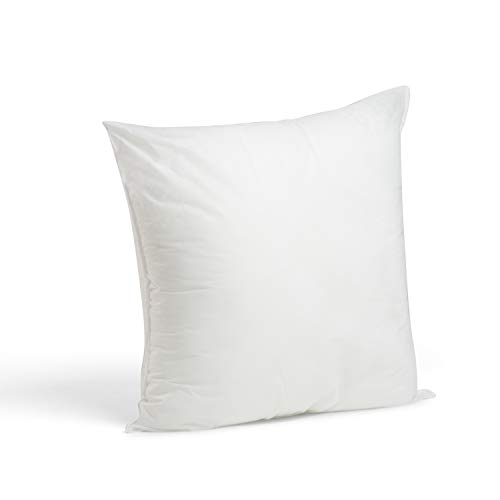 Foamily Premium Hypoallergenic Stuffer Pillow Insert Sham Square Form Polyester, 18' x 18', White