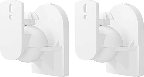 goobay 49394 Soporte de Pared para Altavoces Universal, Giratorio/inclinable para Altavoces de hasta 3,5 kg, Blanco
