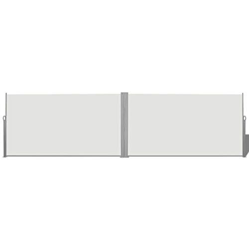 vidaXL Toldo Lateral Retráctil Acero y Tela 160x600cm Crema Biombo de Jardín