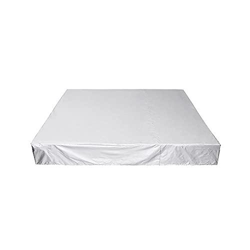 Bache De Protection, Funda para muebles de jardín a prueba de polvo Silla de té a prueba de lluvia Funda a prueba de polvo para sofá Spa Bañera Cubierta de piscina Imper(Size:218*218*30cm,Color:Negro)