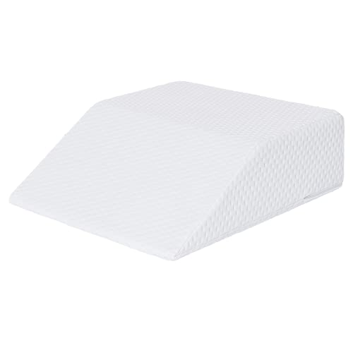 Leg Elevation Pillow Molblly Cooling Gel Memory Foam Knee Pillow High-Density Leg Rest Elevating Foam Wedge- Relieves and Recovers Foot and Ankle Injury, Hip and Knee Pain(20 x 24 x 6 inches)