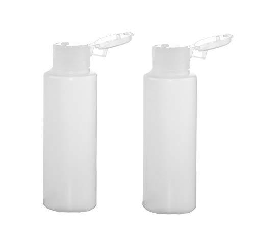 Hustar 2 Pcs 200 ML Bouteilles en Plastique Transparent Tube Vide Cosmetique Contenants pour émulsions Flacon de Voyage