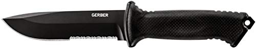 Gerber Prodigy Survival Knife, Serrated Edge, Black [22-41121]