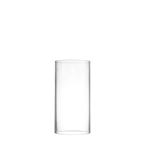 CYS EXCEL Pack of 6 Glass Hurricane Candle Holders, Tabletop Protection Decoration, Chimney Tube, Glass Cylinder Open Both Ends, Open Ended Hurricane, Candle Shade (3' Wide x 6' Tall)